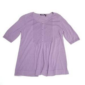 ✅ Daisy Fuentes Dusty Purple Cardigan